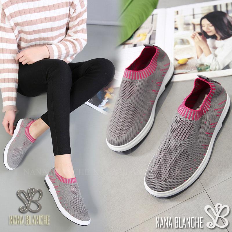 Nana Blanche Sepatu Sneakers Wanita Sock Shoes Kasual - Olivia