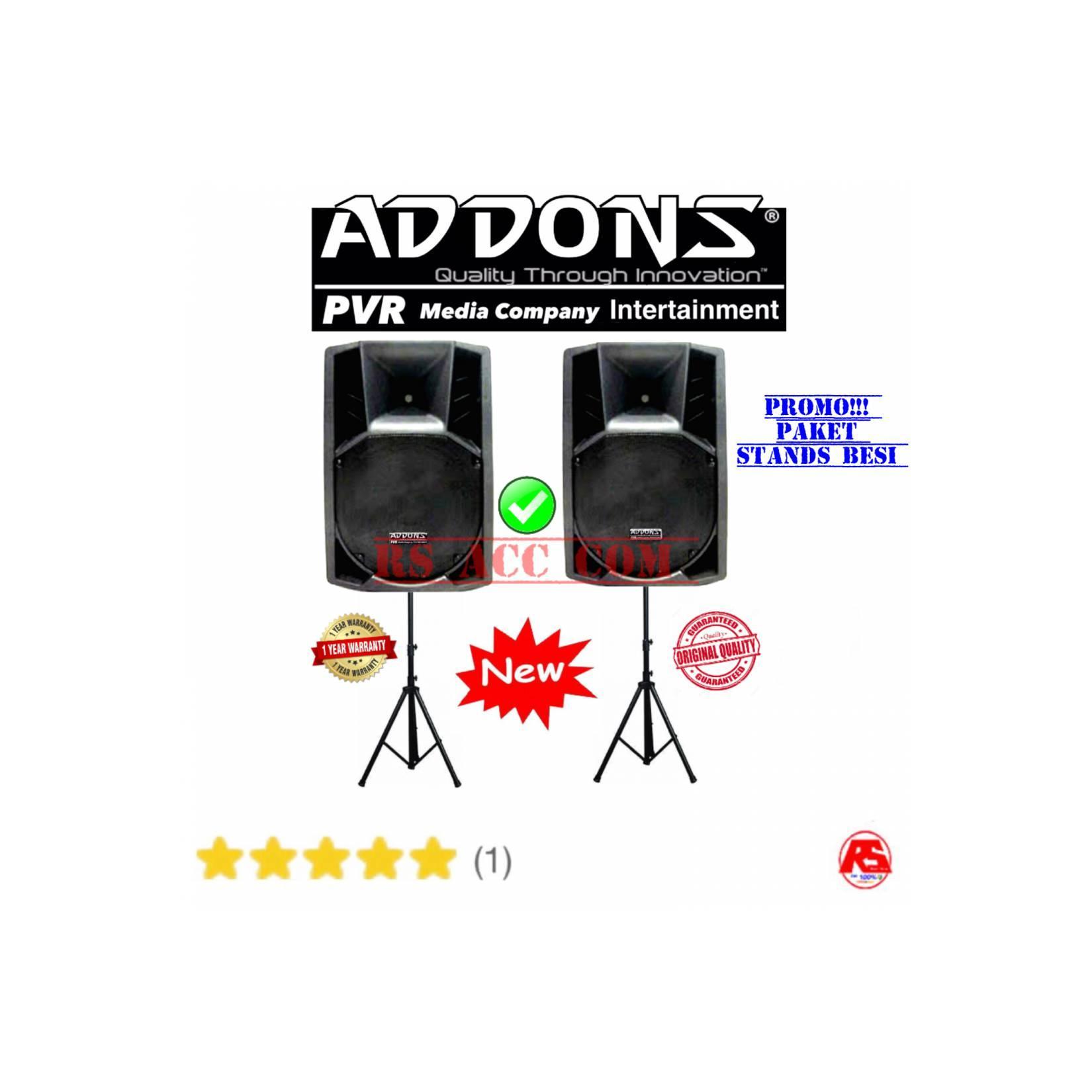 Promo Paket Speaker Aktif Addons 15 Inch Viber Tambah Stand Besi