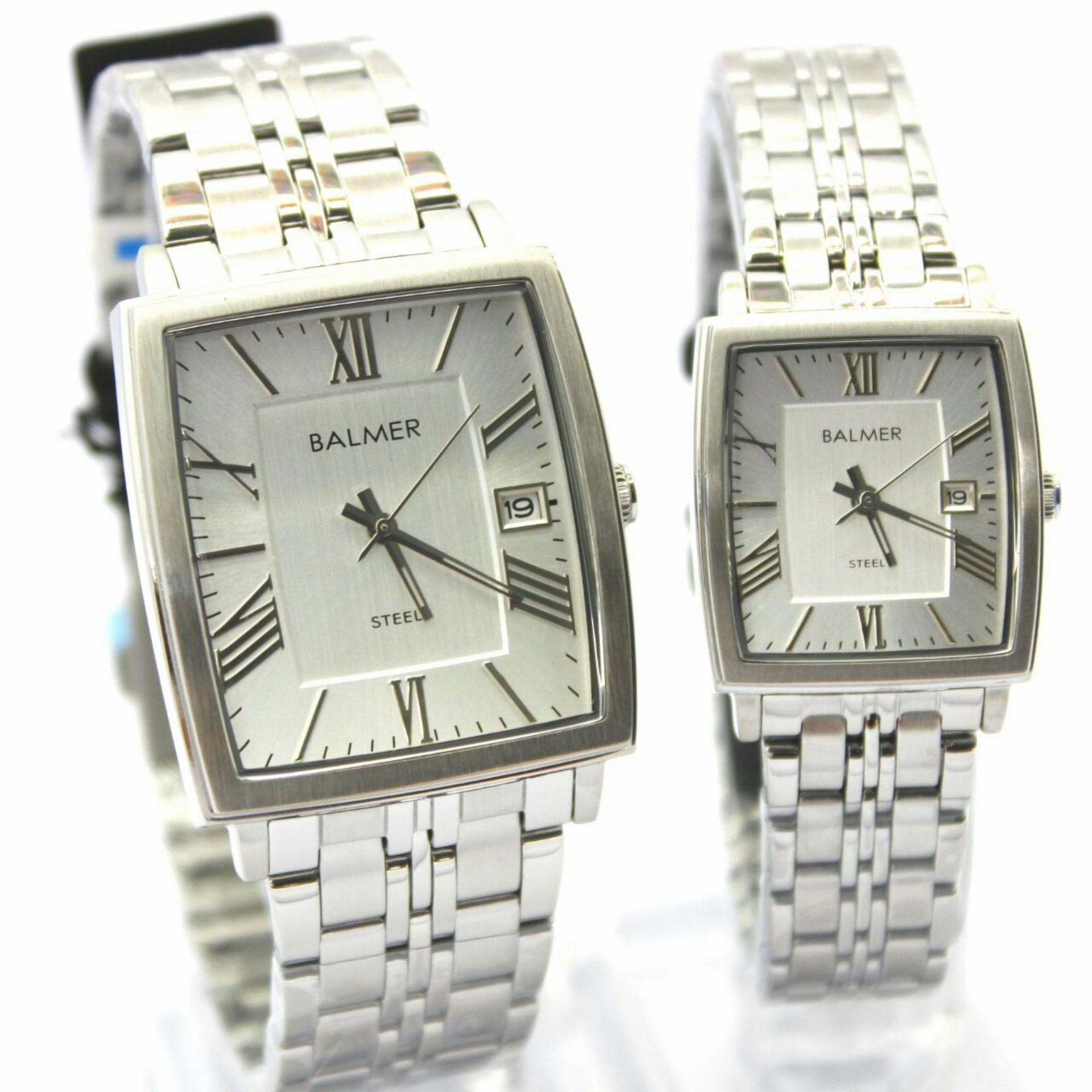 Balmer Jam Tangan Pria Sapphire Style Stainless Steel Strap B7912m4 Casual Man D47h670bl7907mslvphb Chronograph Silver Bl7966vr Couple Original Analog Mode