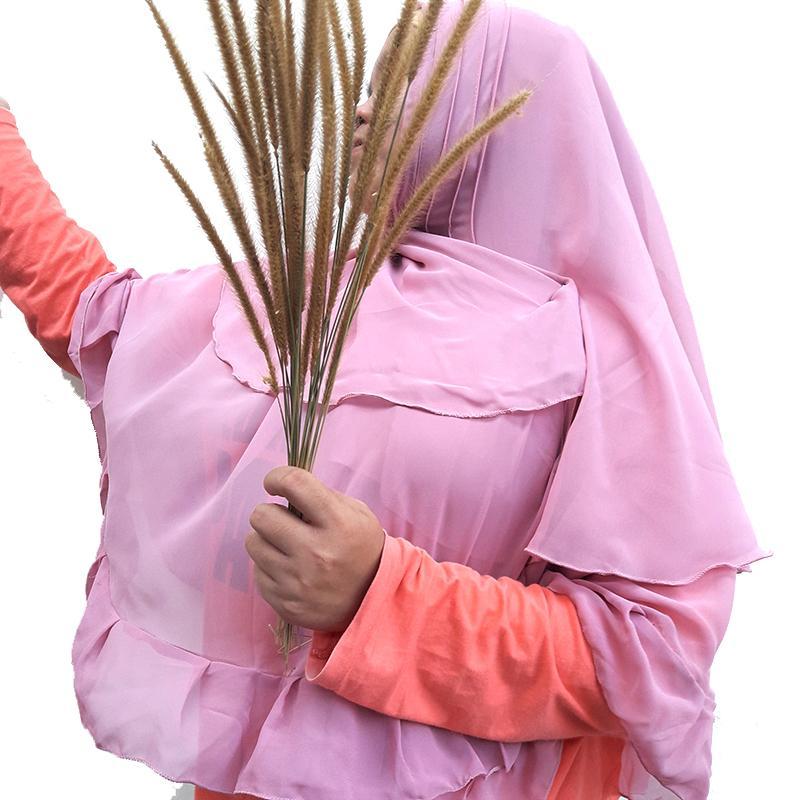 Delice Hijab Kepala Kerudung Rania Jilbab Instan Syari Khimar Polos Tanpa Pet 2 Layer Instant Langsung Pakai Women Fashion Wanita Muslim Muslimah Bahan Sifon Chiffon Pengajian Sehari-hari Penutup Pelindung Kepala Simple Adem Nyaman