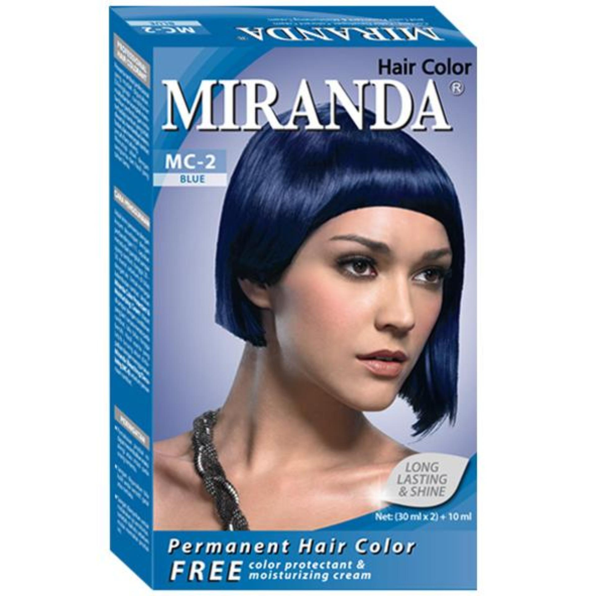 Miranda Permanent Hair Color Cat Rambut MC-2 - Blue