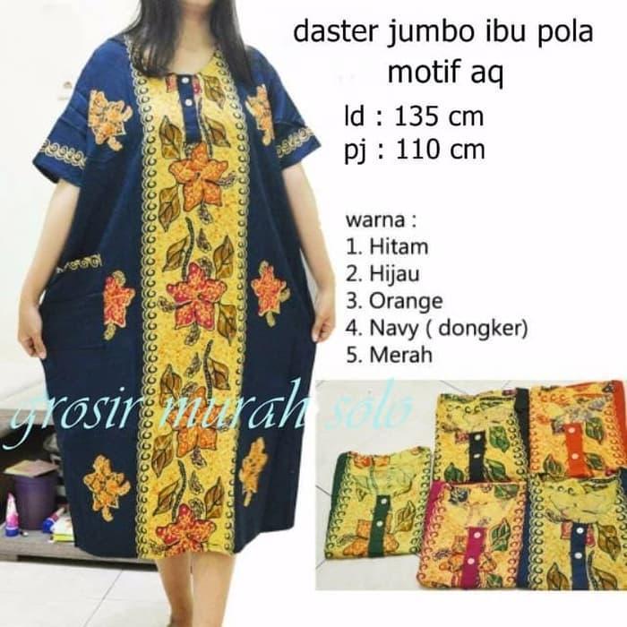 daster jumbo pola baju tidur santai dress bunga batik daster jumbo pola baju tidur santai dress bunga batik