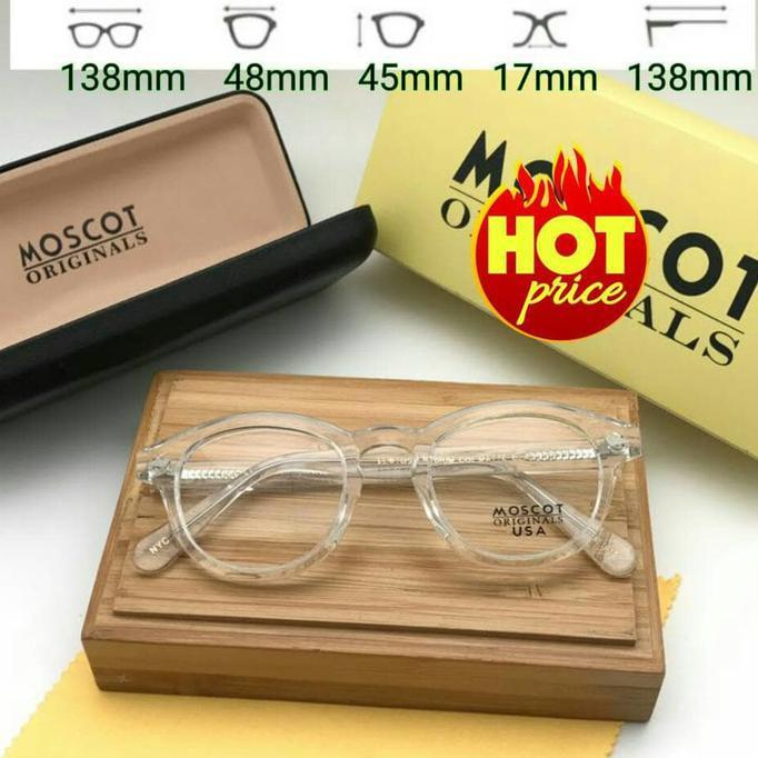 Frame Kacamata Moscot Lemtosh Transparan Glossy - Djfpwjg