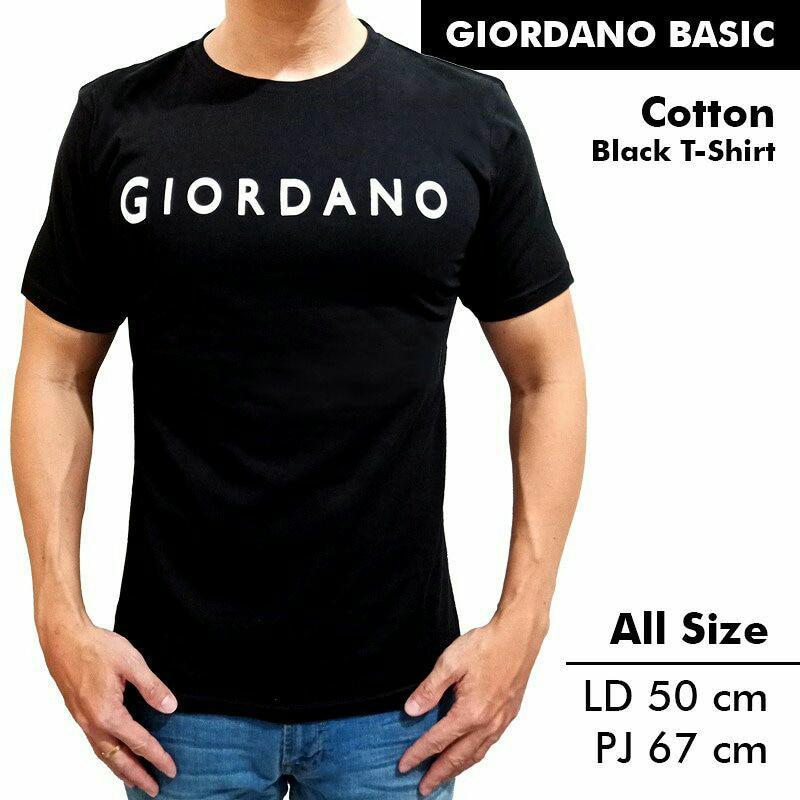 Kaos/Tshirt Giordano Hitam