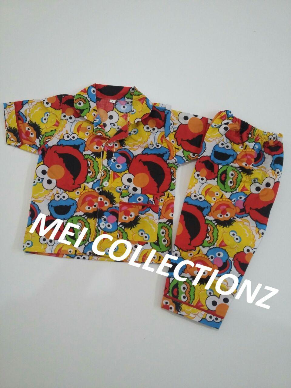 Mei Collectionz Piyama Anak Unisex Elmo Size 1 2 / Baju Tidur Anak Murah / Piyama Anak Murah / Baju Tidur Murah