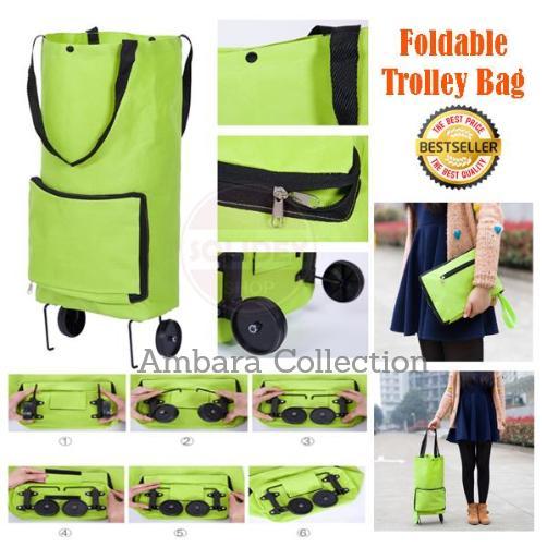 Cek Harga Baru Foldable Trolley Bag Keranjang Belanja Lipat Dan ... 37609b391c