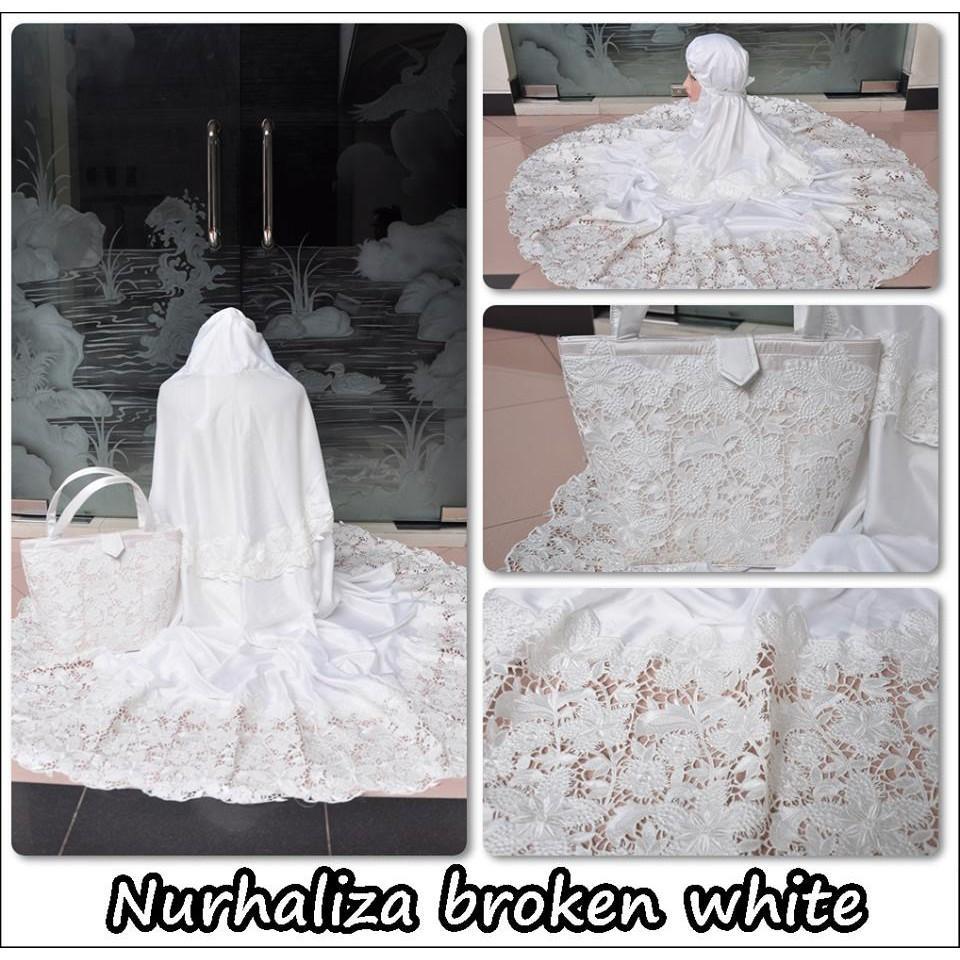 Mukena Dewasa Nurhaliza BW (broken white)