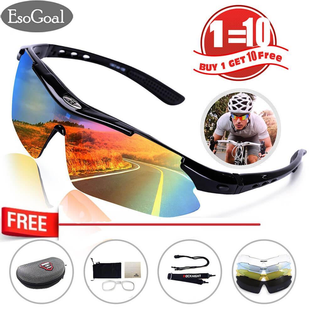 JvGood Kacamata Olahraga Outdoor Sepeda Motor Outdoor Bike Sport Sunglasses  Dengan 5 Lensa 18f2ba1b5b