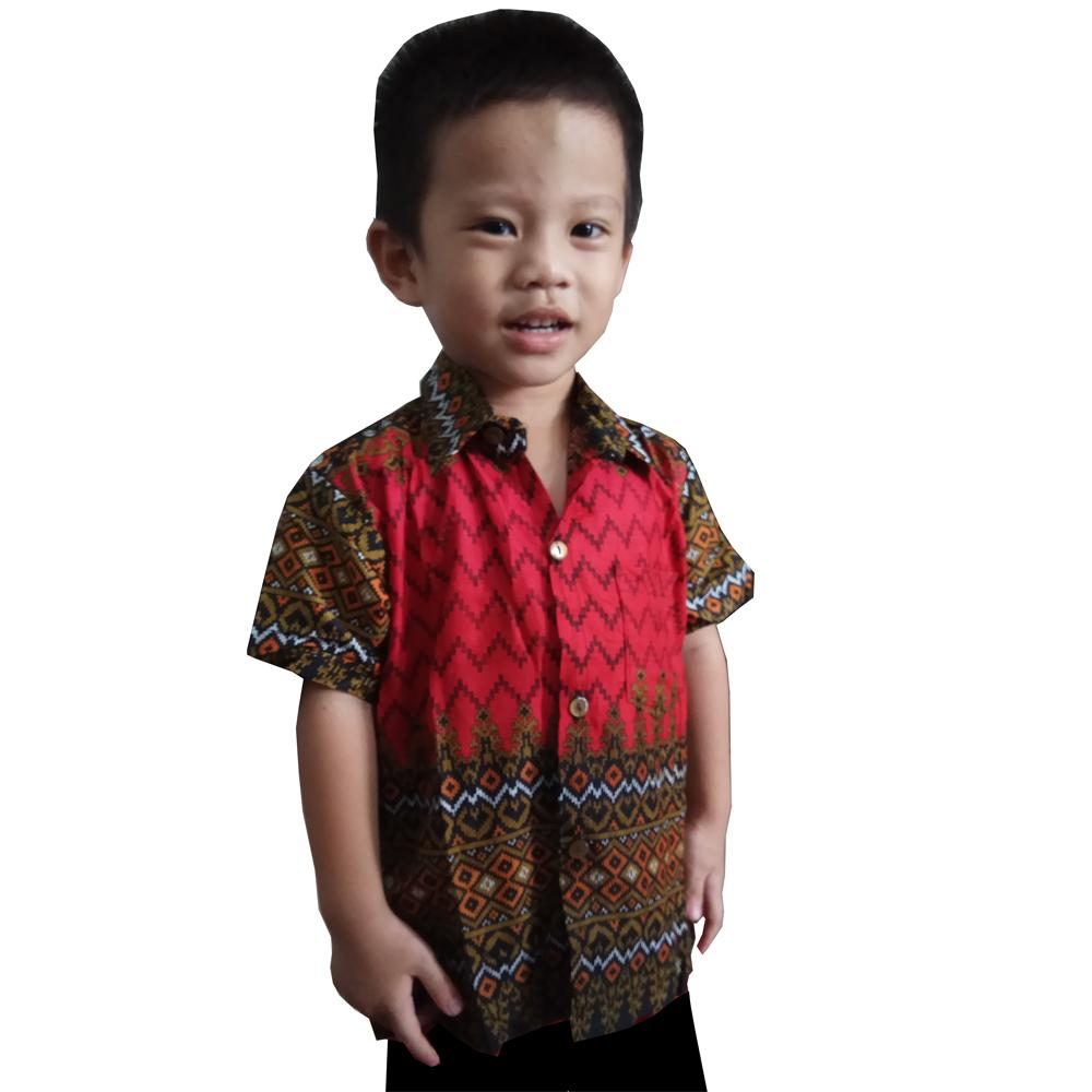 TJ Collection Atasan Kemeja Chandra Lengan Pendek Batik Anak Laki-laki