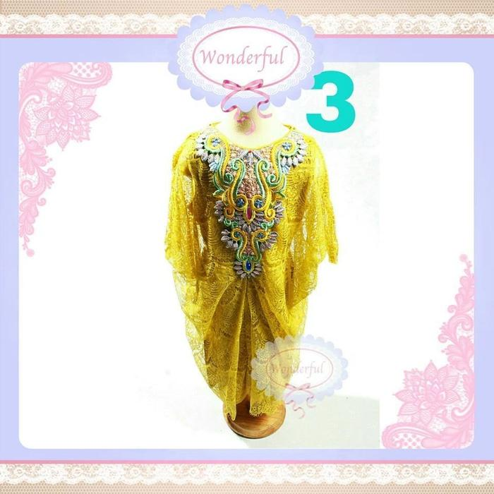 SALE MURAH - KAFTAN ANAK GOLD BIG SIZE Dress Gamis Pakaian Gaun Pesta