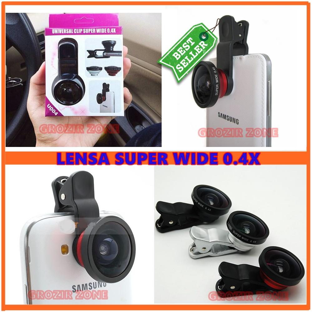 Lensa Super Wide 0.4x / Lensa Superwide 0.4x For Universal Smartphone Warna acak - Original ( Grozir Zone )