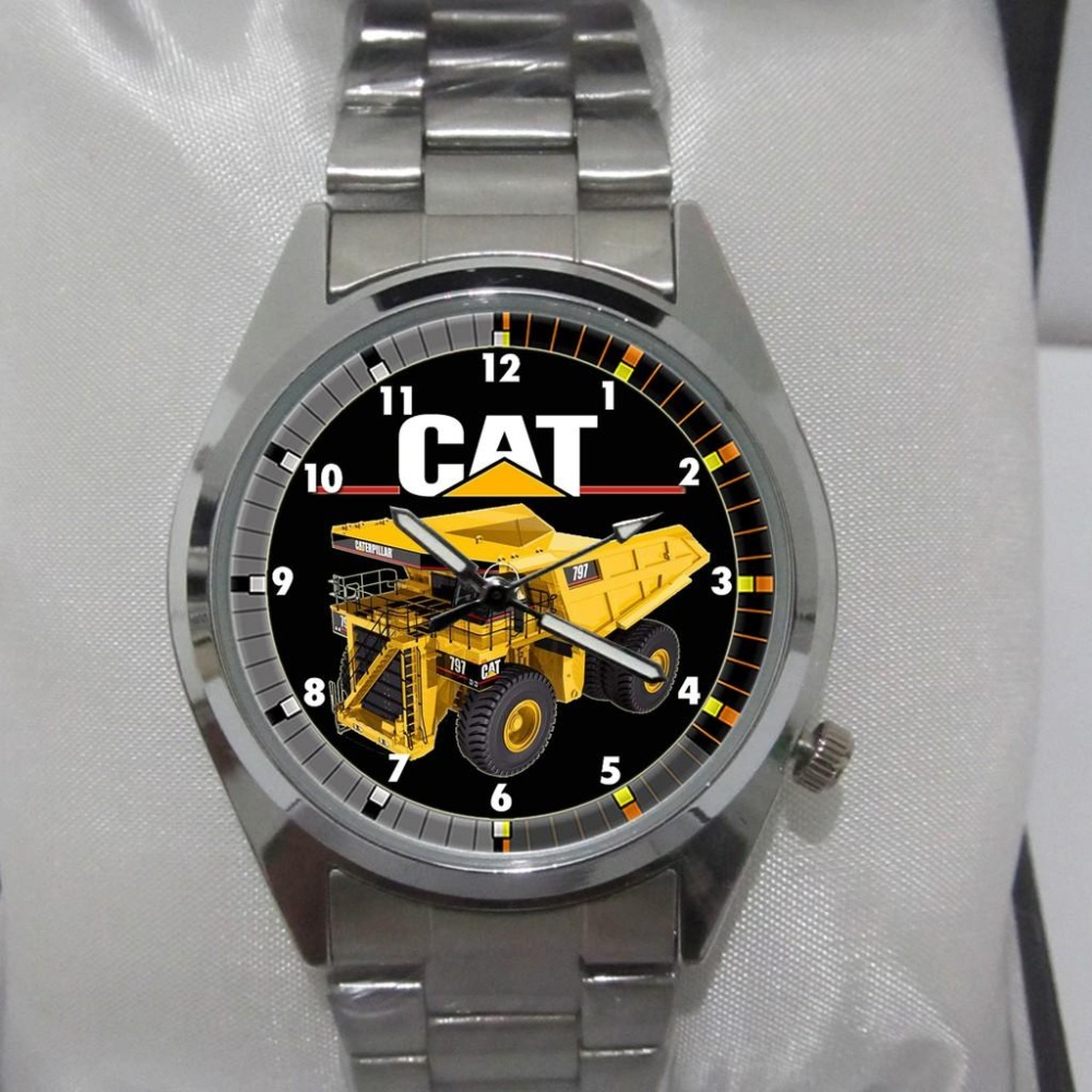 Caterpillar Ad16316131 Jam Tangan Pria Stainless Steel Hitam Kuning Swiss Army Sa X002211334 Dual Time Stainles