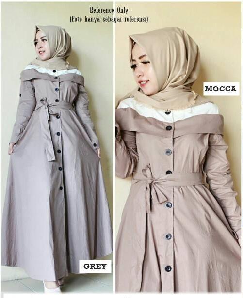 Baju Muslim Original Gamis Farissa Dress Dress Katun Baju Panjang Muslim Dress Casual Wanita Pakaian Hijab Modern Gamis Modis Trendy Gaun Terbaru