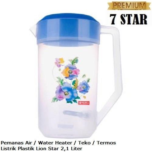 Pemanas Air / Water Heater 7STAR - Teko Termos Listrik Plastik Lion Star 2,1 Liter ( Material 100% Food Grade ) - Random