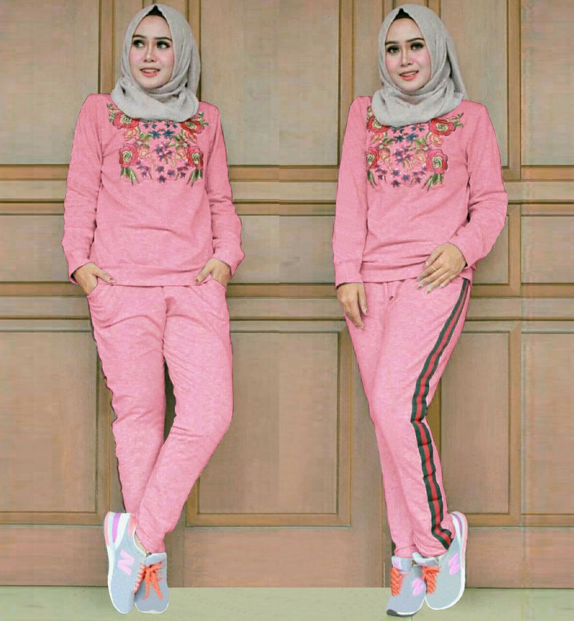 J&C Setelan Training GC / Setelan Baju Olahraga Wanita / Baju Training / Training Muslim / Baju Santai Wanita