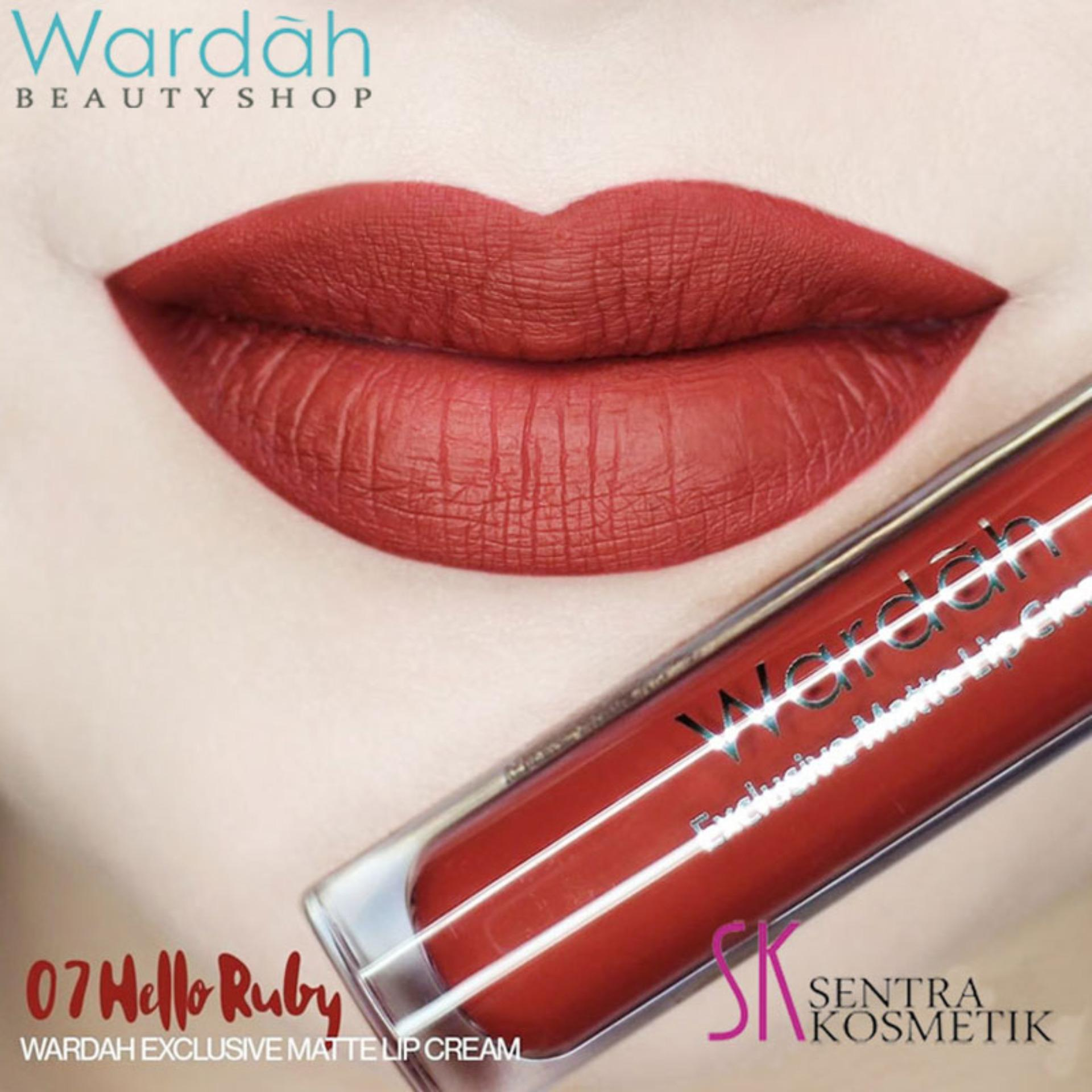 Wardah Exclusive MATTE LIP CREAM No 07 - HELLO RUBY