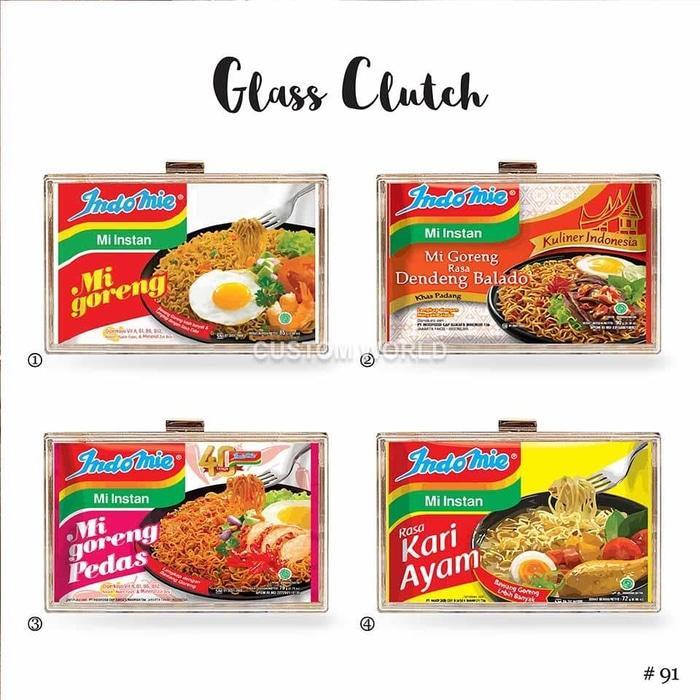 Glass clutch / acrylic clutch / tas pesta list plastik katalog Indomie - reIfZ0