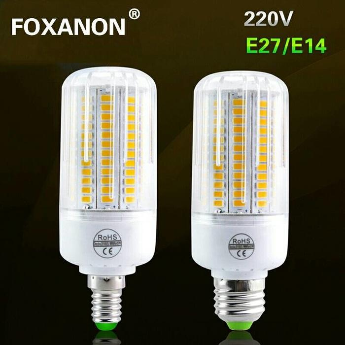 Foxanon Led 5730 E27 corn lamp 108 leds 220v / lampu led jagung
