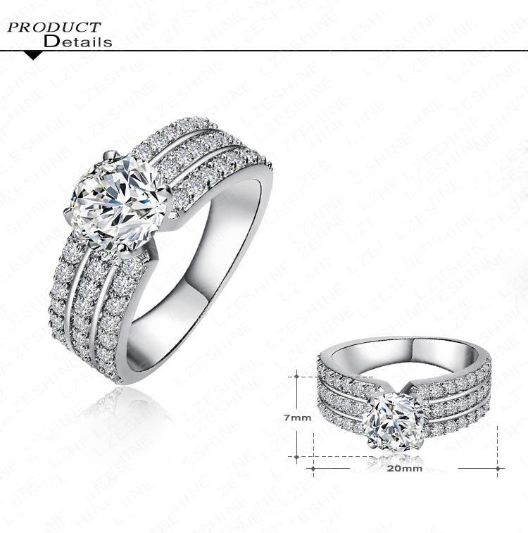 ... AAA Cubic Zircon Diamond Women s Ladies Rings Wedding Party Anniversiry Female Band Ring