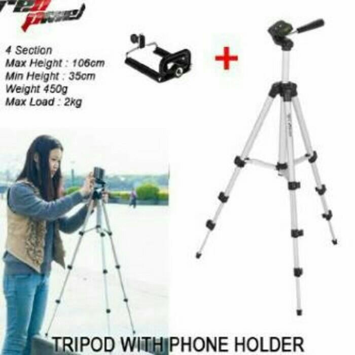 Tripod Weifeng WT-3110A + Free Holder U for Smartphone