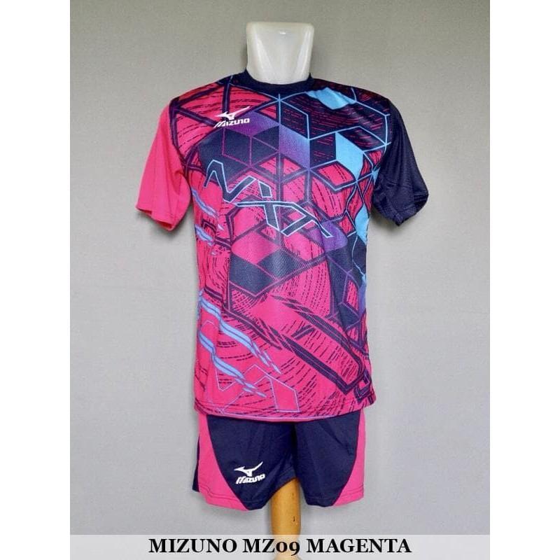 TERMURAH Mizuno MZ09 Magenta - Baju Kaos Celana Setelan Voli Volly Volley Jersey Olahraga