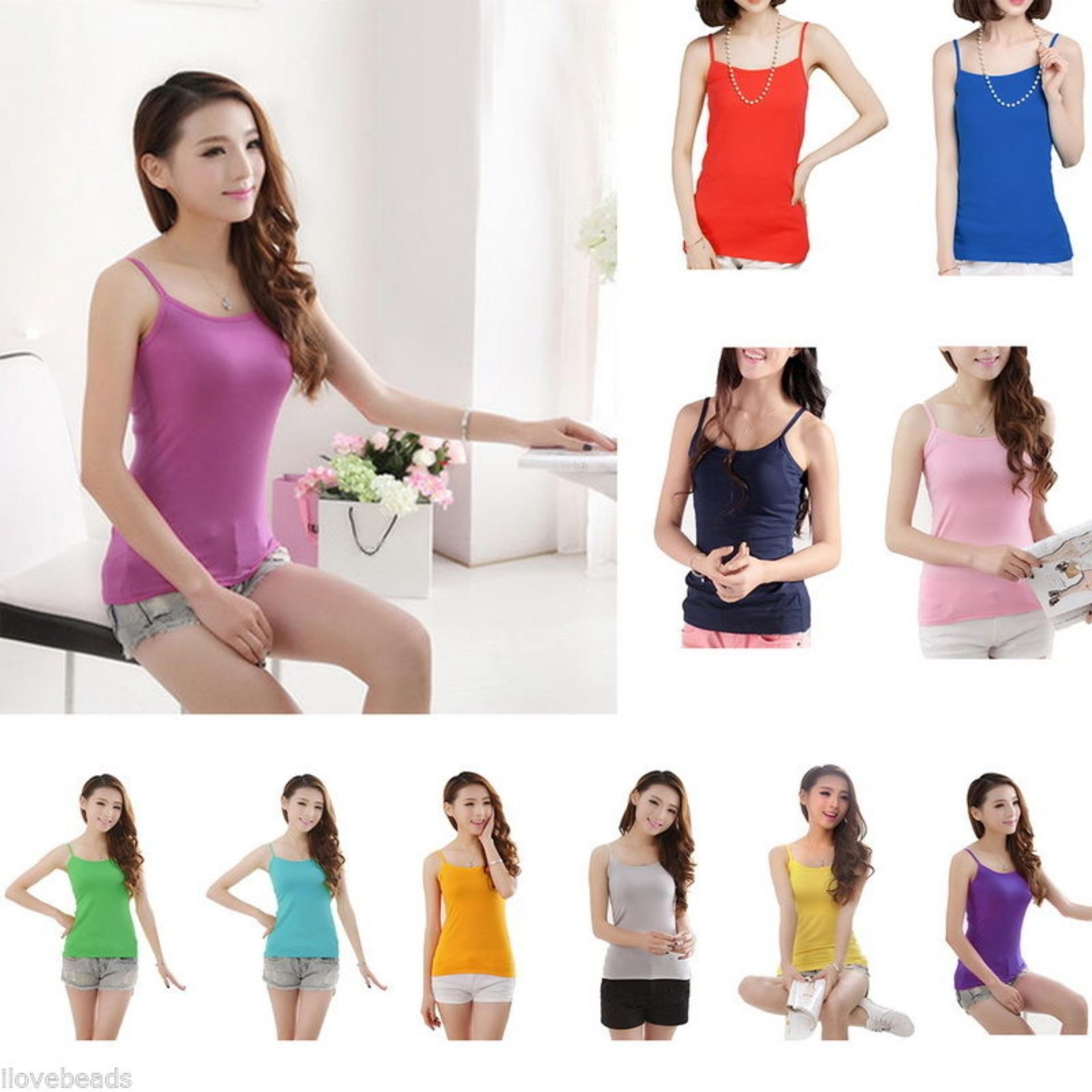 Buy Sell Cheapest Tangtop Cowok 1502 Best Quality Product Deals Tank Top Bra Cup Bustier Singlet Busa 6 Pcs Tanktop Sleeveles Berbahan Lembut Harga Grosir