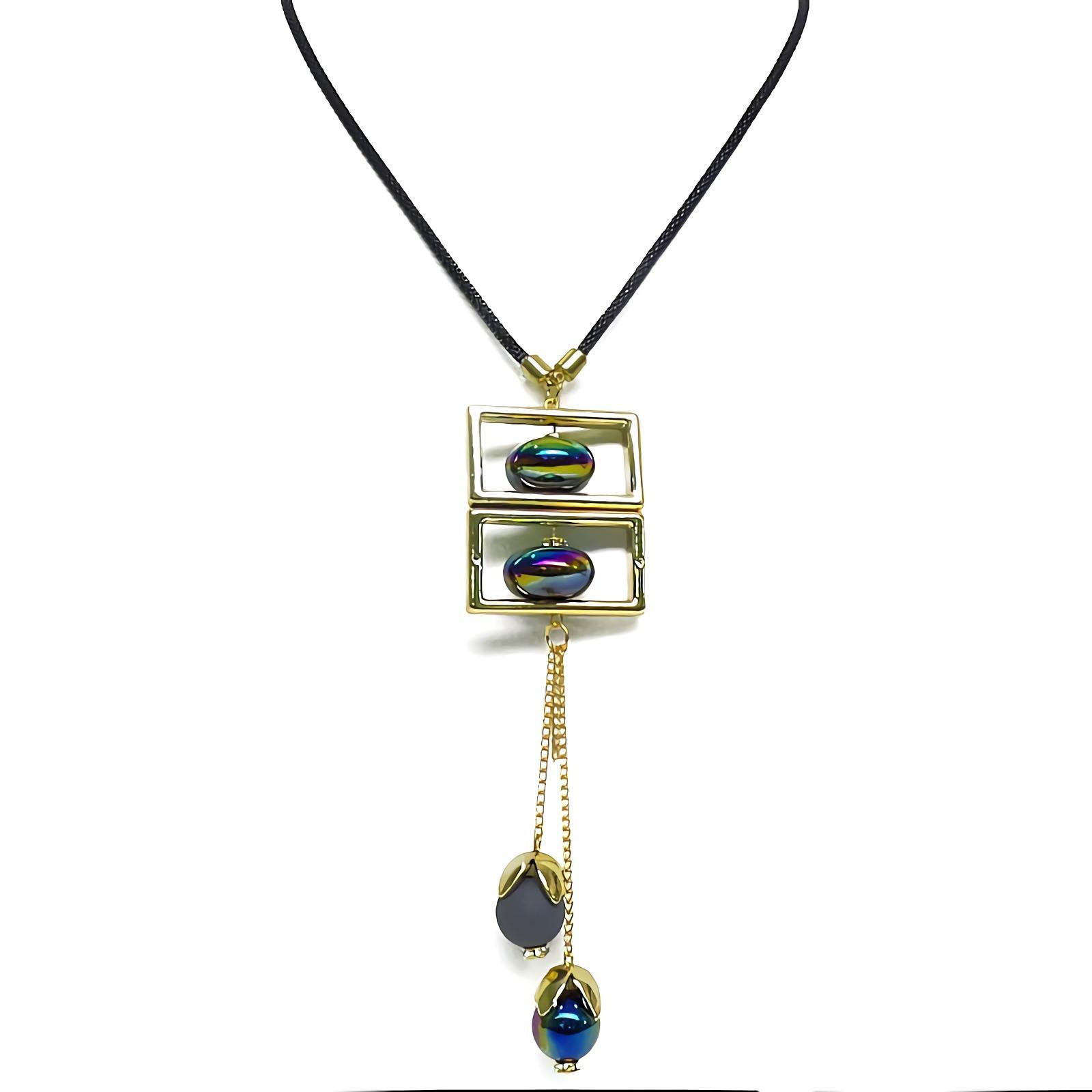 OFASHION Aksesoris Kalung CA-180314-K007 Necklace Fashion Xuping Jewelry Hitam MerahIDR10028. Rp 10.028