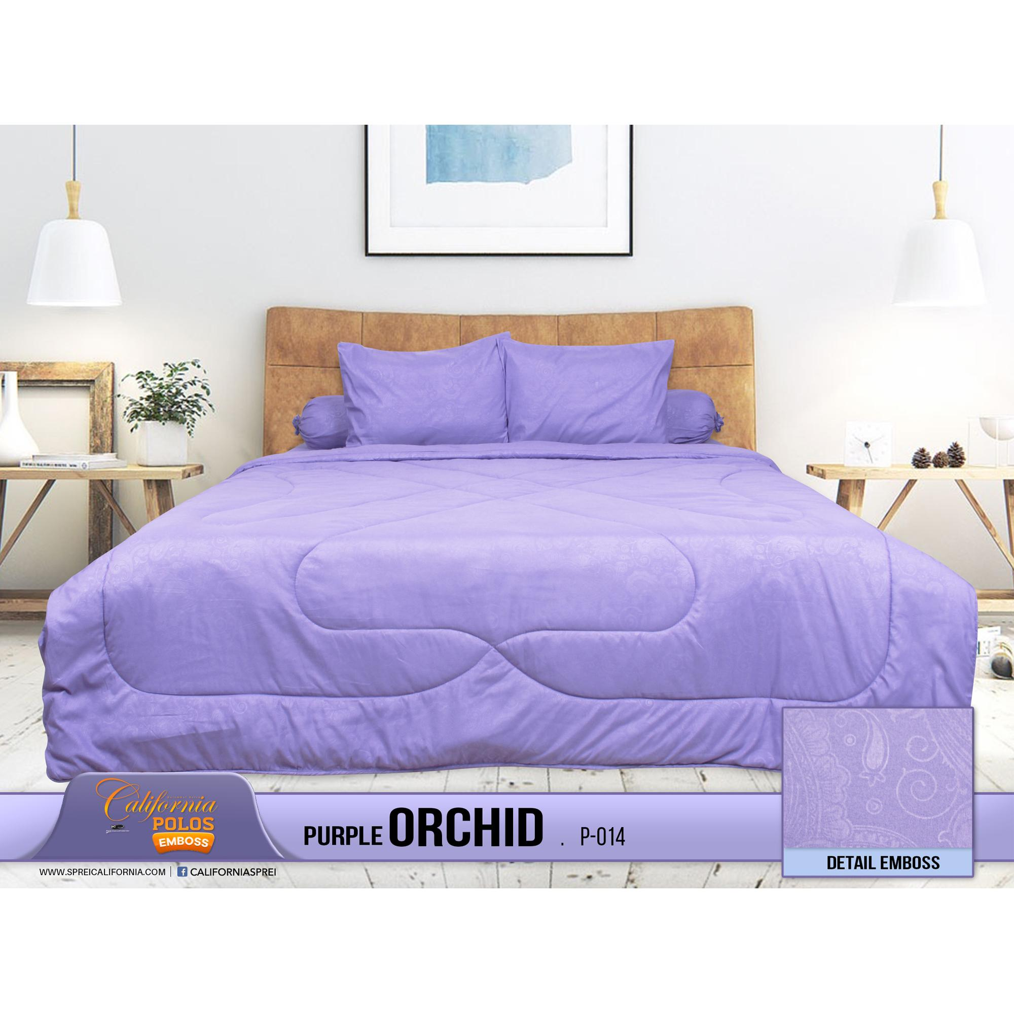 Buy Sell Cheapest California Sprei Set Best Quality Product Deals Katun Jepang Orchid Pink Purple Polos Plus Emboss