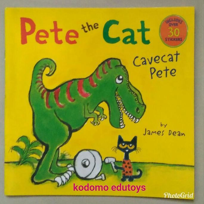 Pete The Cat Cavecat Pete ( Includes Over 30 Stickers ) By James Dean - Kidsbook