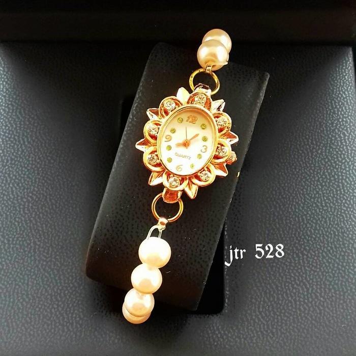 Nyaman dipakai jam tangan fashion mutiara wanita / jtr 528 / Jam tangan wanita / jam tangan model