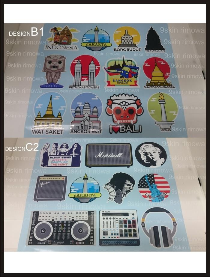 Tas Travel Pria sticker koper rimowa design35
