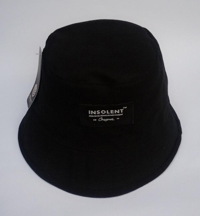 topi bucket hat hitam polos Terlaris di Lazada
