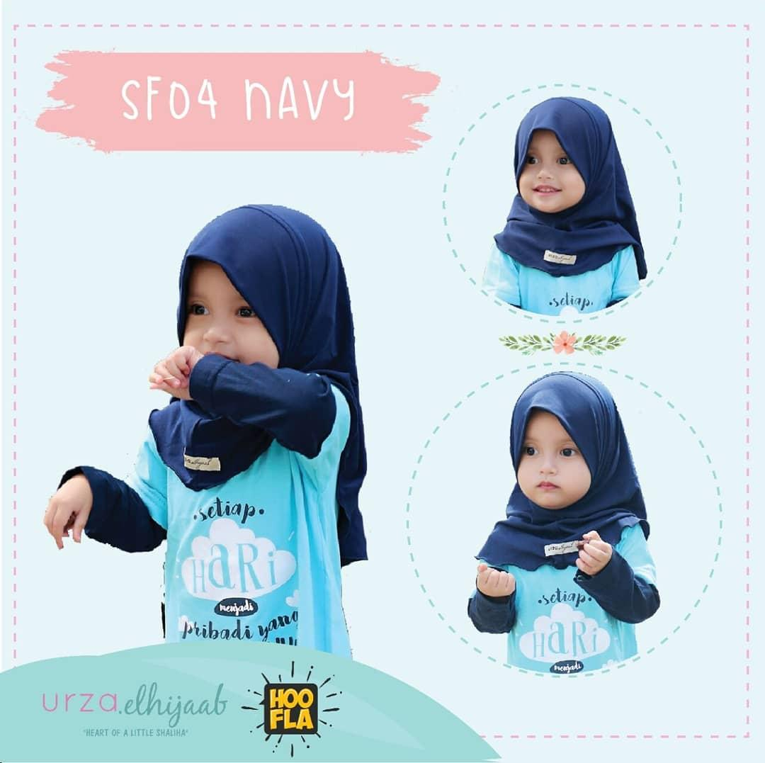 Jilbab Hijab Anak Perempuan Muslimah Lucu Warna Navy Biru Dongker