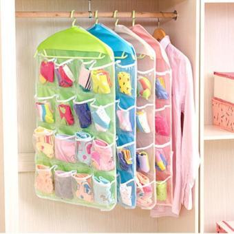 Harga baru Gantungan 16 Kantong Lipat Lemari Gantung Tas Penyimpanan Kaus Kaki Celana Sepatu Celana Pakaian Hanger Closet Organizer Tas sale - Hanya Rp18. ...
