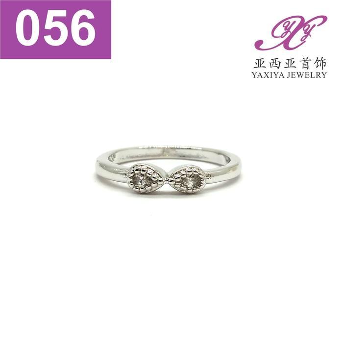 Cincin Permata Emas Putih Perhiasan Imitasi  Jewelry 056