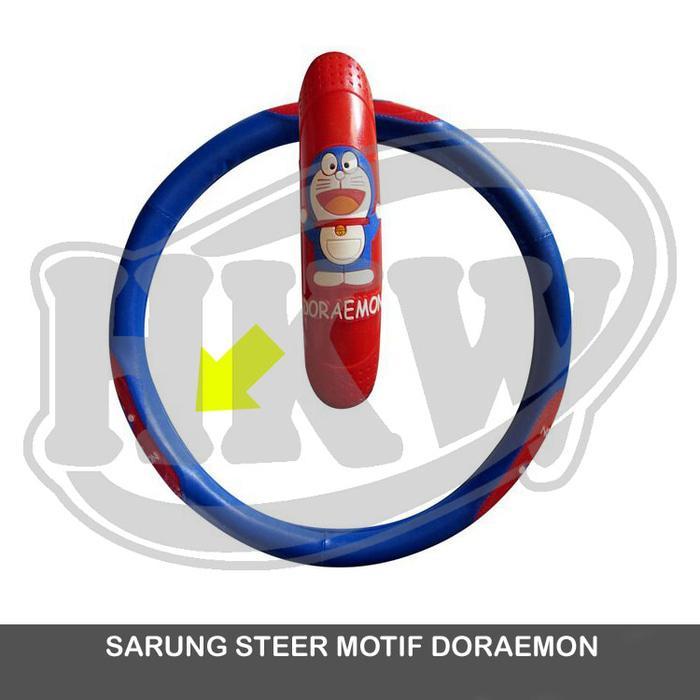 Sarung Cover Steer Motif Doraemon SX-4 X-Over