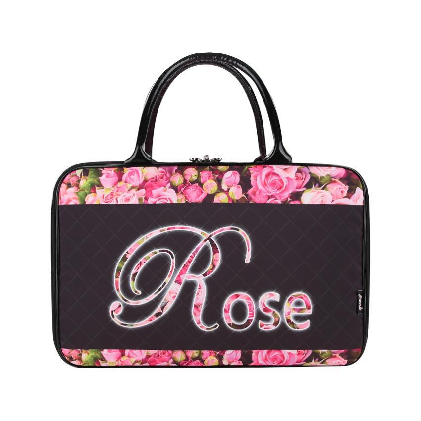 AMT Tas Travel Bag Koper Kanvas Besar Pria dan Wanita Premium Bunga Rose