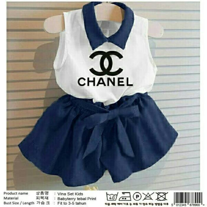 Set Kid Vina Chanel Kid Pakaian Stelan Anak Baju Anak Perempuan