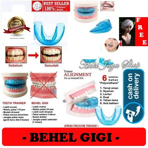HOKI COD - Orthodentic Retainer Teeth Trainer Allignment USA / Behel Gigi Original Import - Perapih Gigi - 1 Pcs + Gratis Shower Cap Putih - Premium