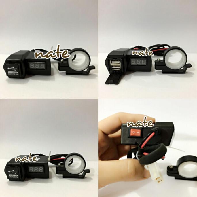 Lanjarjaya Usb Charger Motor Waterproof Cas Hp Di Motor Hijau Pop Source · Anti Air Merah Source Waterproof Bag Case Source Voltmeter Charger