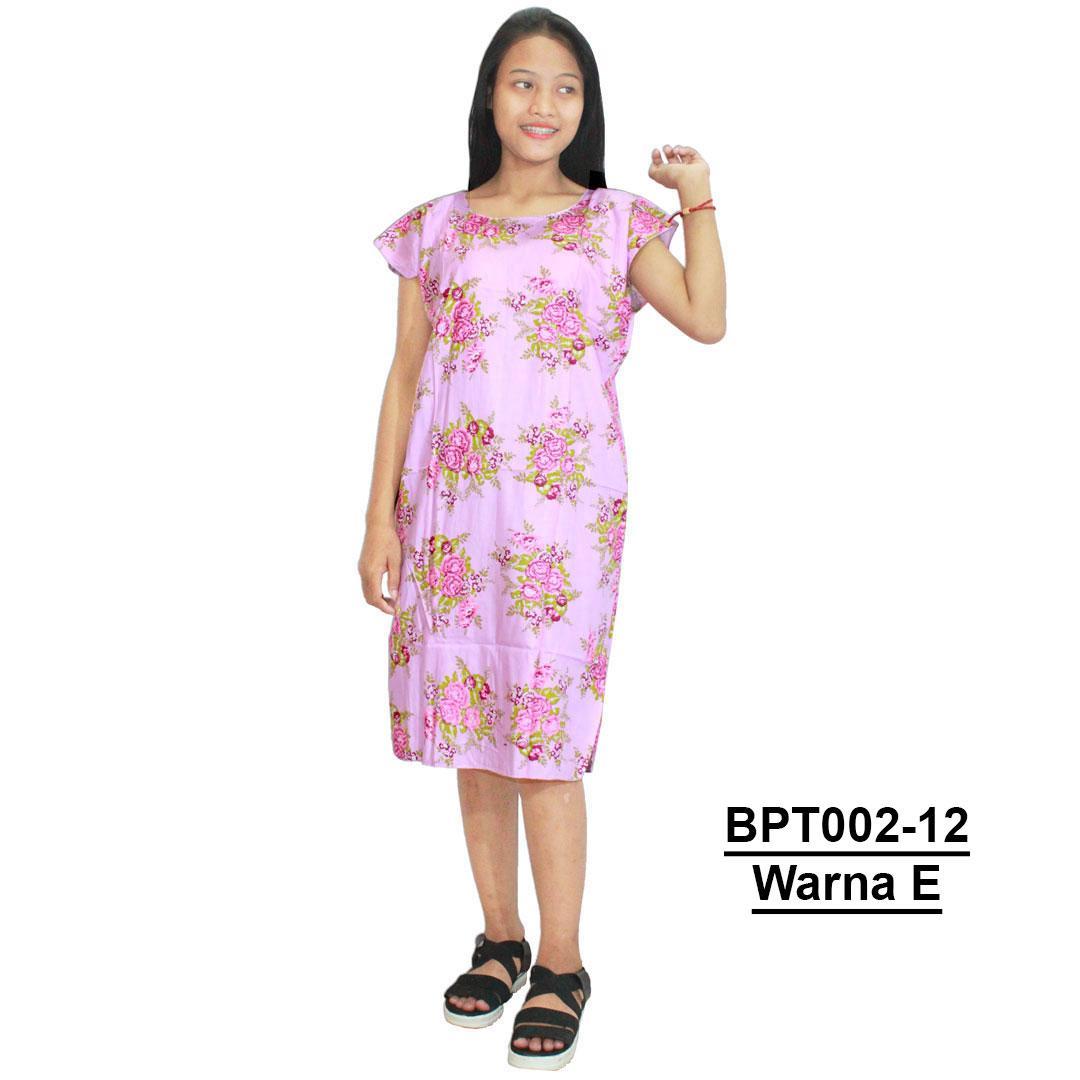 Midi, Daster Midi, Dress Santai, Baju Tidur, Piyama, Atasan Batik (BPT002-12) Batik Alhadi