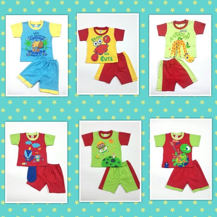 Baju Setelan Anak Lakilaki  Baju Anak Cowok Setelan Kaos Umur 3 Sd 9 Bulan