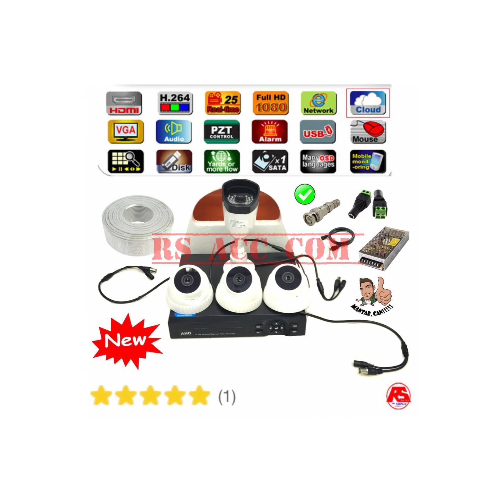 Murah Promo Paket 4 Camera Cctv 3MP Hardisk 1TB Komplit