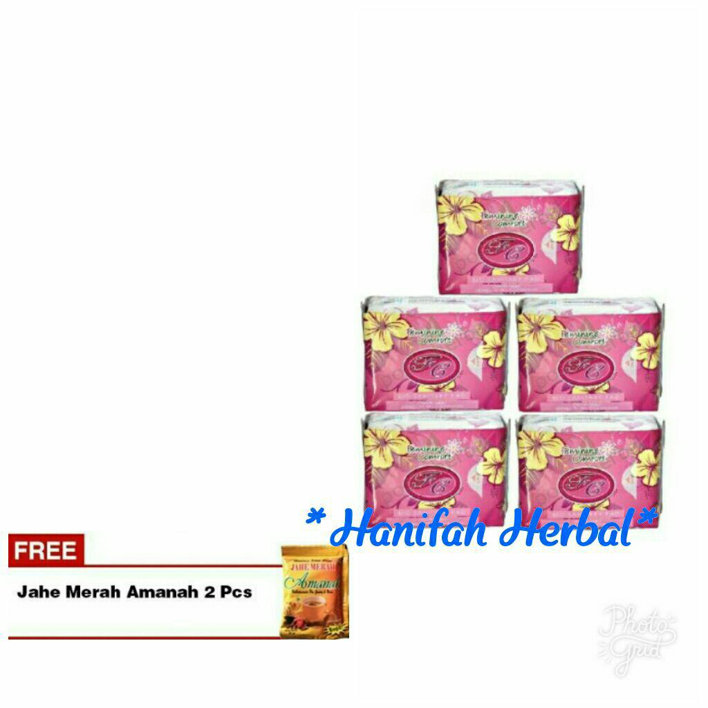 Avail Pembalut Herbal Bio Sanitary Pad Night Use Paket 2 Pcs Merah 5