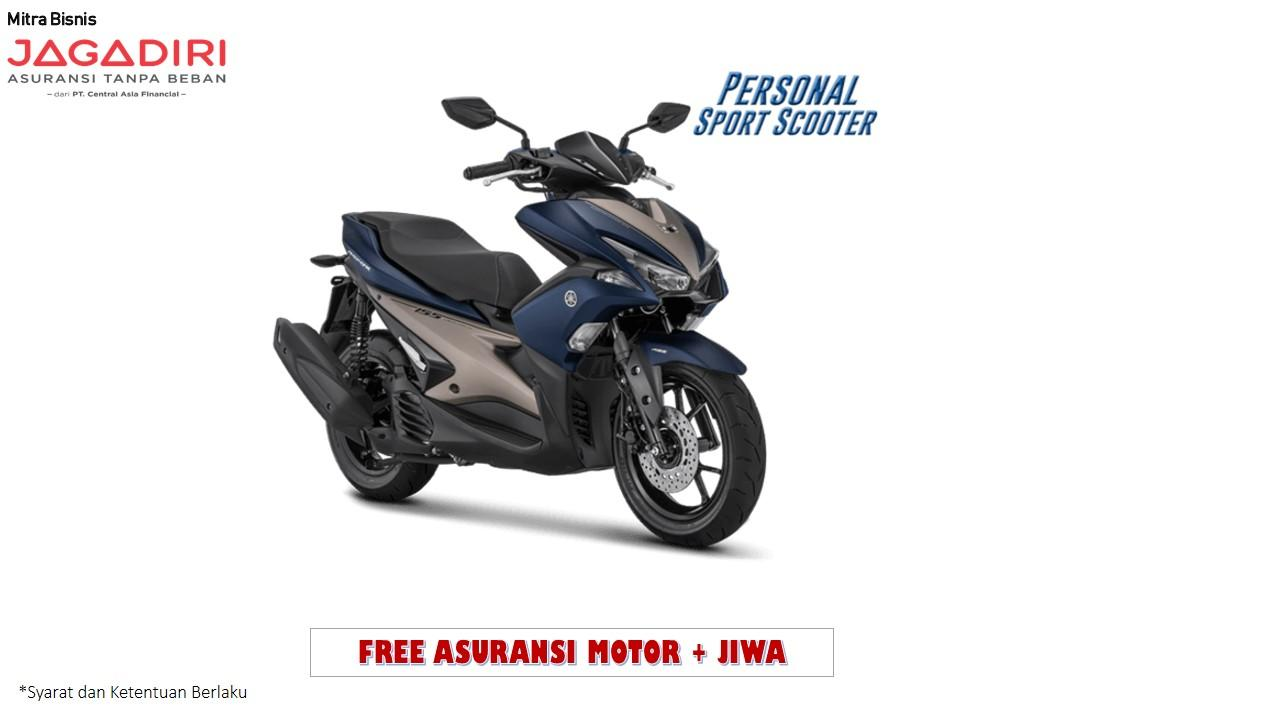 Yamaha Aerox 155 VVA S Version Sepeda Motor - Matte Blue ( OTR BOGOR )
