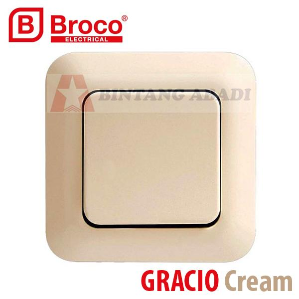Termurah Broco Saklar Engkel IB Inbow Gracio Cream 4161-11 / Single Switch SNI Harga Grosir