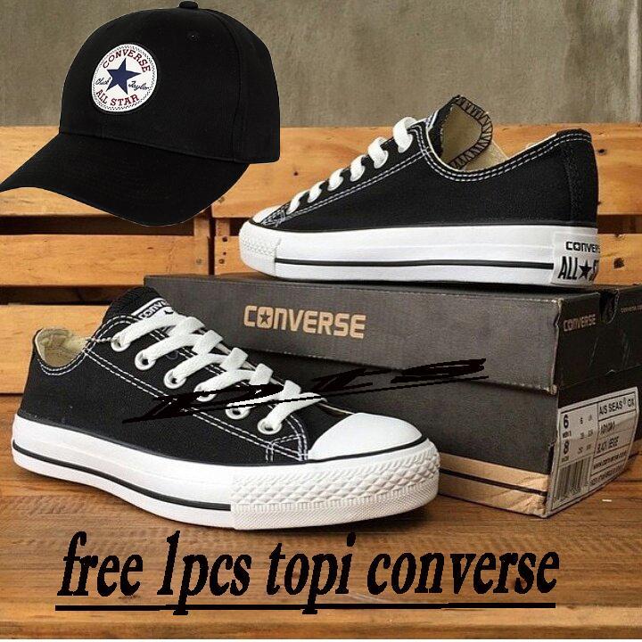 Converse Chuck Taylor All Star Classic Top Sepatu Sneakers Free 1pcs Topi Converse