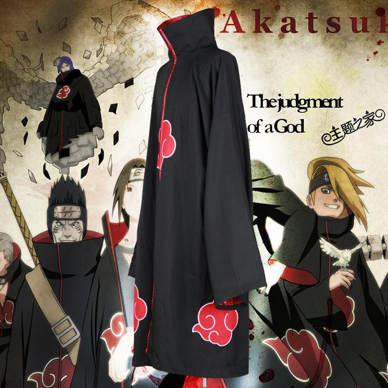 Unisex Cosplay Kostum Jepang Anime Naruto Itachi Akatsuki Cosplay