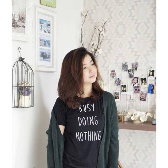 Polo Shirttshirt Busy Doing Nothing Tumbler Ter - Hitam No. 06 Murah kode dhala-FF425