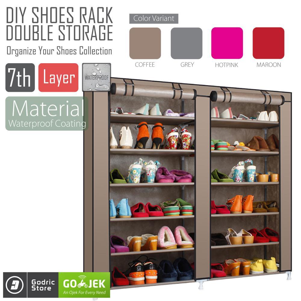Godric Rak Sepatu Double 7th / Lemari Sepatu / Shoes Rack 118 x 30 x 110 CM